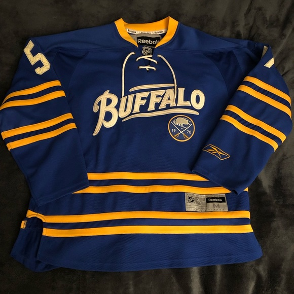 huge selection of ffa01 312c7 Throwback Buffalo Sabres Tyler Myers Jersey